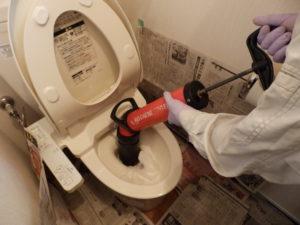 ローポンプをトイレで使用する