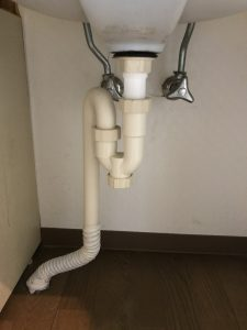 緑区S様洗面台下水漏れ処置後の写真