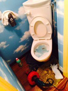 富津市O様トイレつまり除去作業前写真