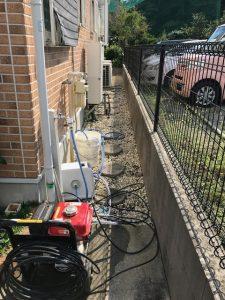 館山市A様宅屋外排水管つまり除去画像