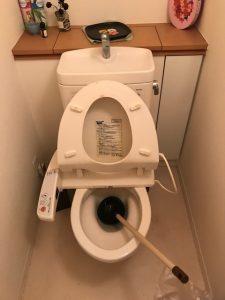 東金市M様宅トイレつまり除去前画像