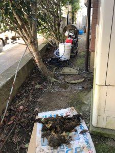 東庄町W様トイレつまり除去作業
