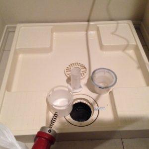 四街道市A様宅洗濯機排水つまり除去完了写真