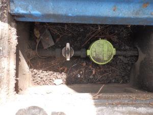 屋外の止水栓(バルブタイプ)