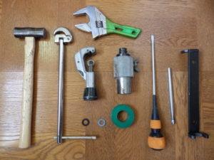 蛇口交換に必要な工具