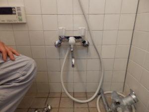 浴室蛇口交換作業完了